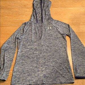 Under Armour long sleeve v-neck with hood